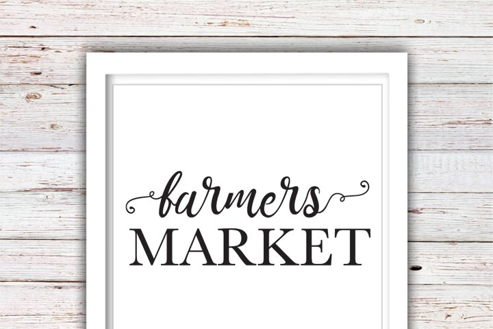 Farmers Market | Farmhouse SVG | Farmhouse | High Quality Svg Eps Dxf Png Files | Cricut Files Silhouette Cameo | Instant Download