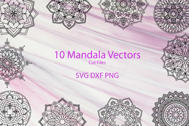 Mandala Vectors SVG DXF PNG - for crafters