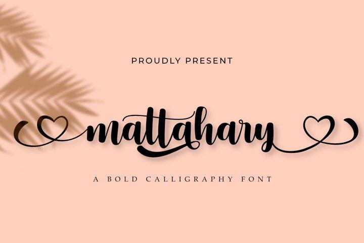 Mattahary | A Bold Calligraphy Font