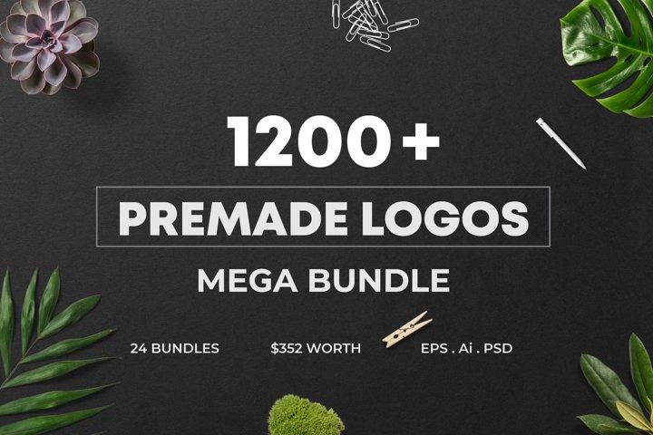 1200 Premade Logos Mega Bundle