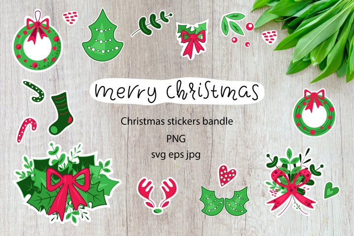 Christmas bandle png. Christmas stickers clip art