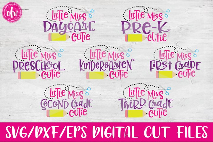 Lil Miss School Cutie Bundle - SVG, DXF, EPS Cut Files
