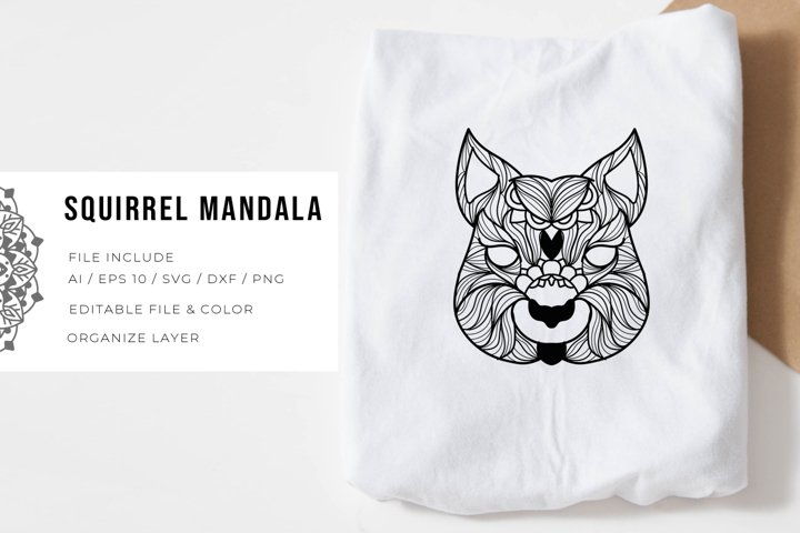 Squirrel | Mandala