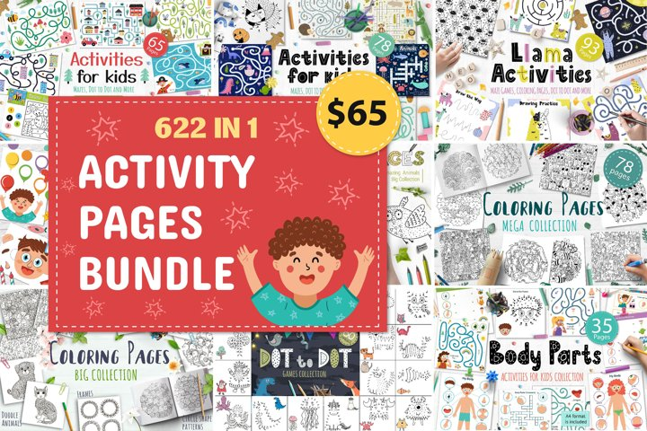 Activity Pages Bundle 622 in 1