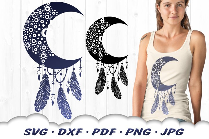 Celestial Mandala Dreamcatcher SVG DXF Cut Files