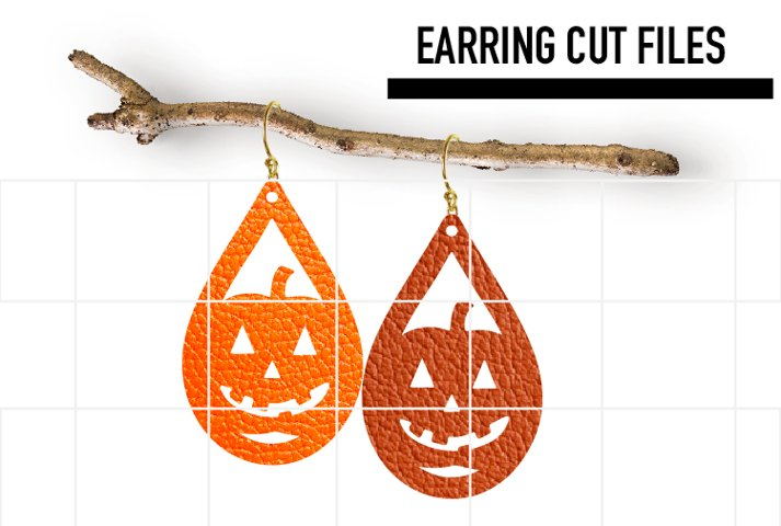 Pumpkin Earrings Svg / Halloween Earrings / Cut Files