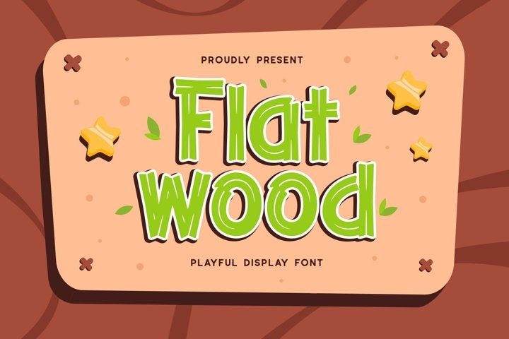 Flatwood - Playful Display Font