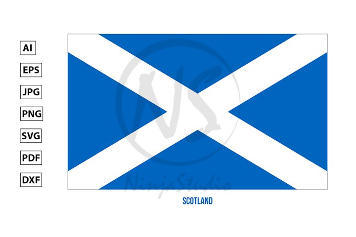 Scotland Flag Vector. Countries of the United Kingdom