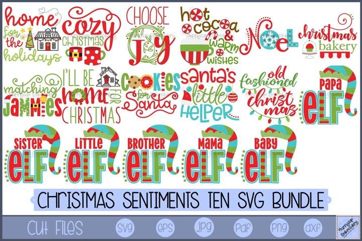 Christmas Sentiments Ten | Christmas Sayings SVG