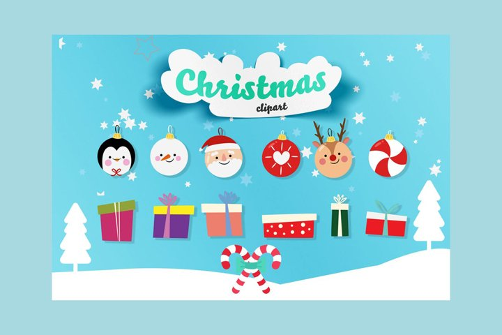 24 Christmas Animals clipart, penguin, reindeer, snowman