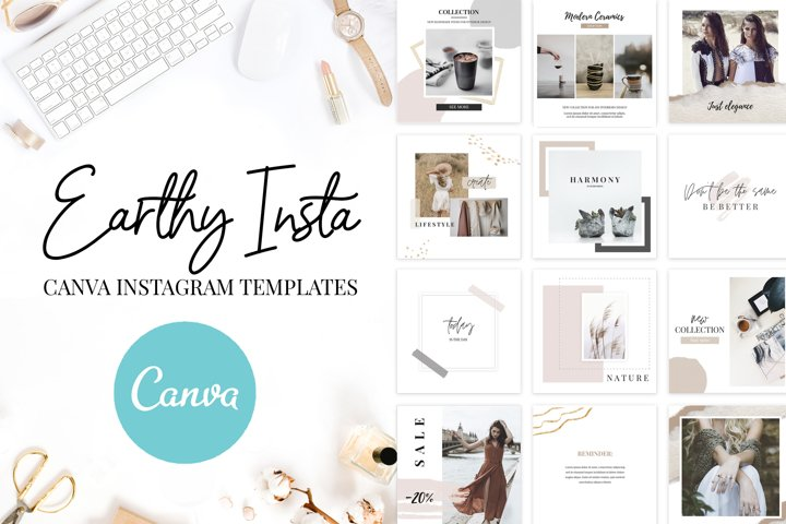 Canva Instagram Templates Earthy