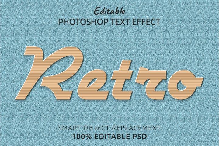 Retro Editable Photoshop Text Style Effect