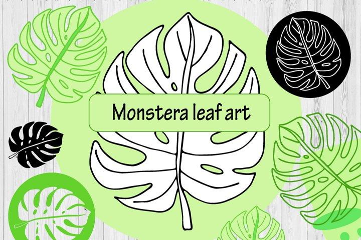 Tropical Leaf Clipart - 8 Monstera Sublimation Designs