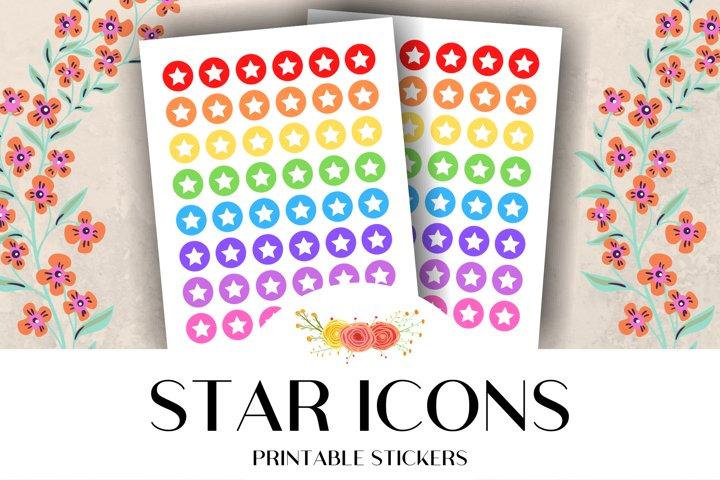 Star Icon Printable Stickers