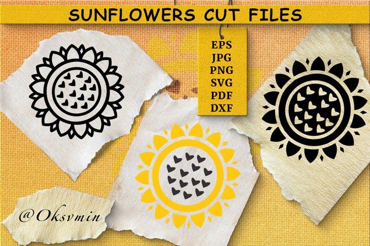 Sunflower SVG | Cut Files| Sunflower Shirt Design