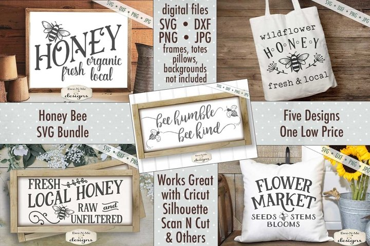 Honey Bee Bundle | Bee | Honey | SVG DXF Files