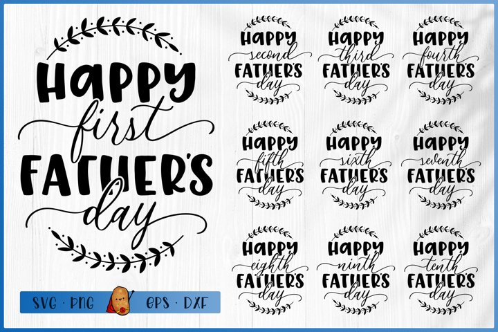 Fathers Day Bundle SVG - Baby Bundle SVG - First Fathers Day
