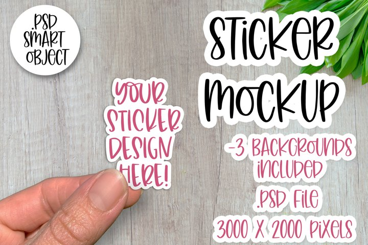 Sticker Mockup, Smart Object PSD, Vinyl Decal Mockup