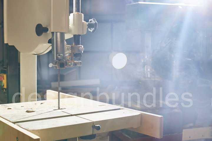 Woodworking Machine. band saw for cutting and sawing boards