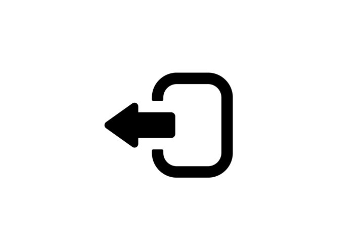 Exit icon. Arrow logout. Logout and output, outlet