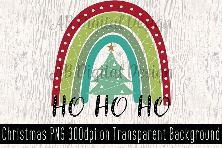 Christmas Sublimation Design Clipart, PNG, Christmas Rainbow