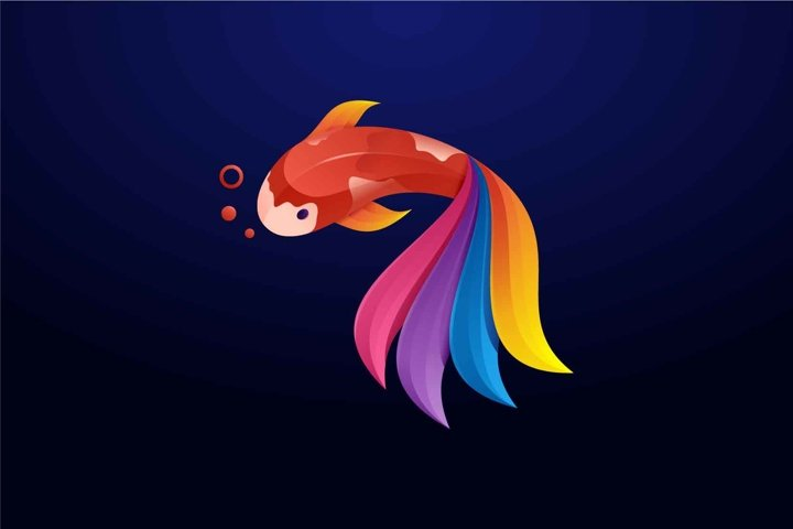 Fish logo design vector illustration