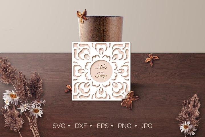 Gate Fold Wedding Invitation Card