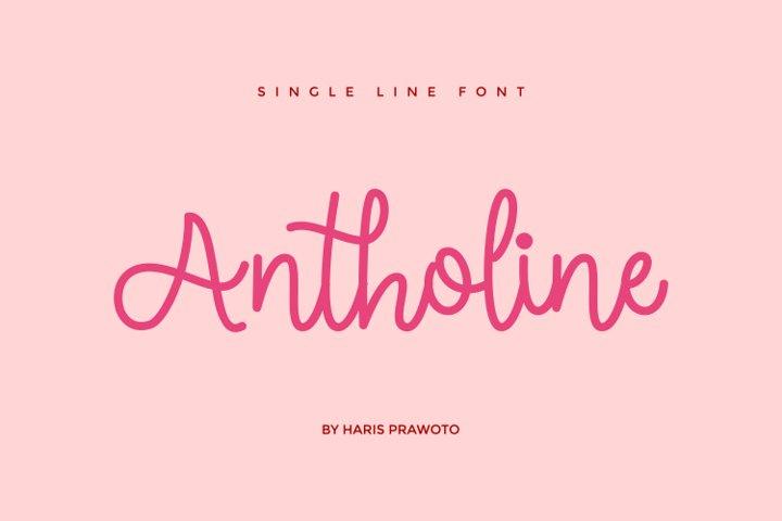 Antholine - Single Line - Hair Line Font
