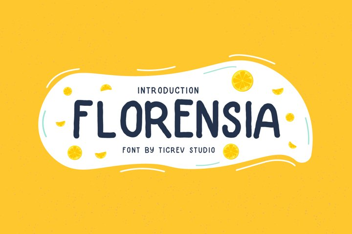 Florensia-Handwritten Display Font
