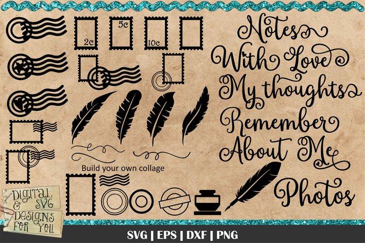 Vintage Mail Elements SVG | Vintage Stamps | Card making