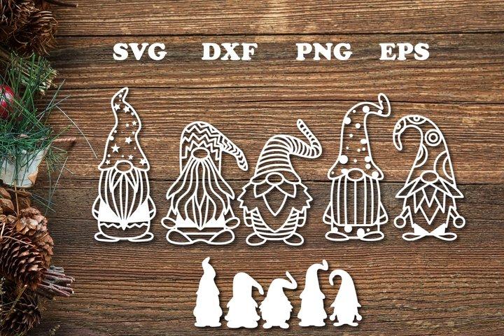 Christmas Gnome Svg Cut File