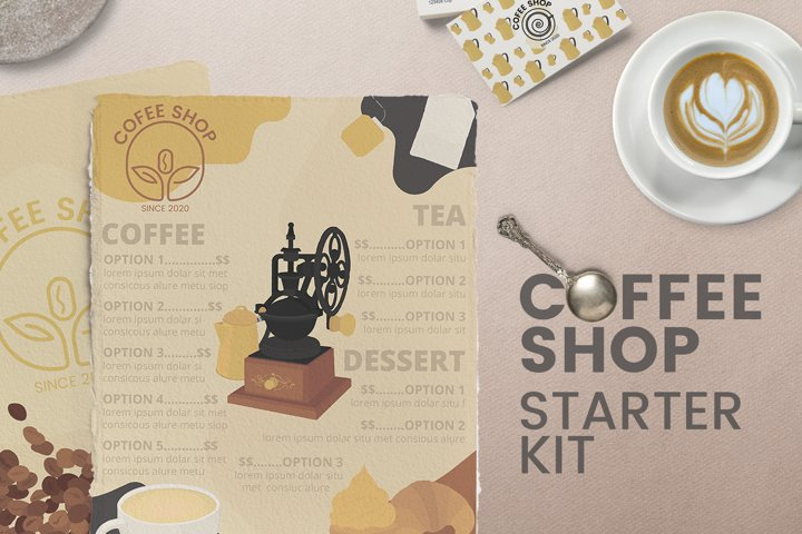 Coffee shop kit - Menus Logos and MORE!