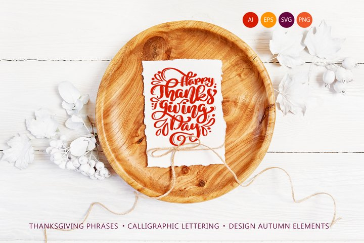 Happy Thanksgiving Vector Pack