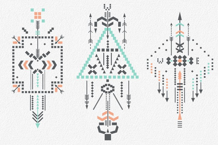 Boho totem. Sacred geometry example 7