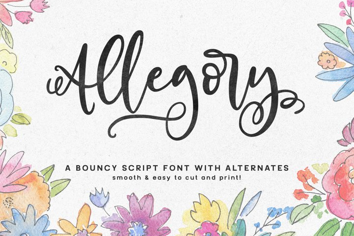Allegory - a fun and curly script font!