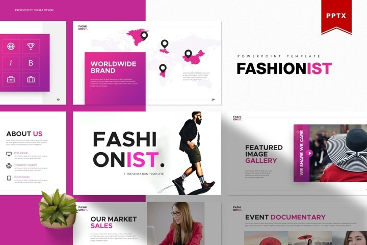 Fashionist | Powerpoint, Keynote, GoogleSlides Template
