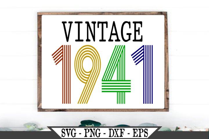 Vintage 1941 SVG