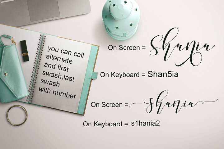 Shania Sweet Calligraphy Modern - Free Font of The Week Design5