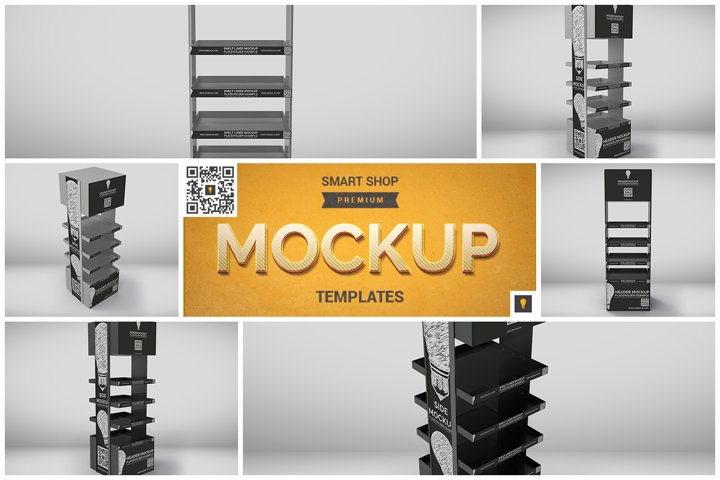 Promotional Store Shelf Stand Mockup