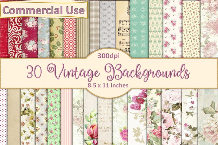 20 Victorian Vintage Backgrounds A4 size JPEG and PDF