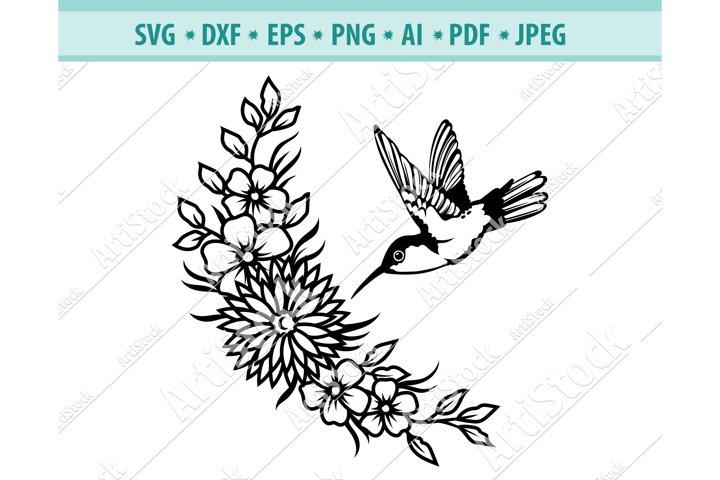 Hummingbird SVG, Hummingbird Wreath svg, Bird Dxf, Png, Eps
