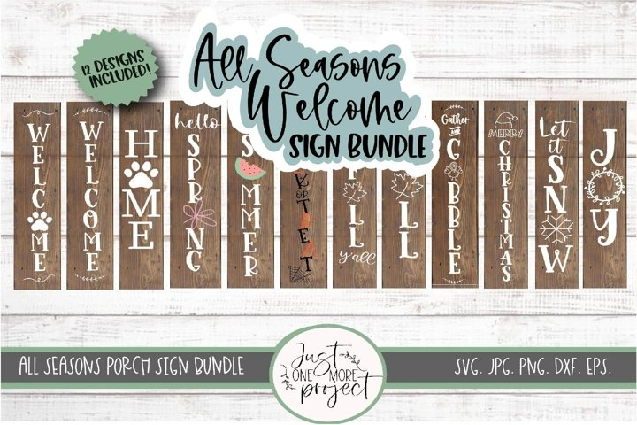 All Seasons Welcome Sign Bundle SVG, Bundle Welcome Signs,