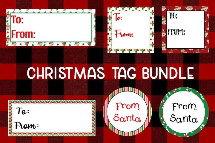 6 Christmas Tag Bundle - JPG & PNG