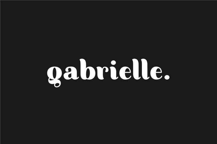 Gabrielle. Sans serif family
