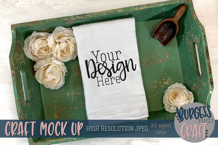 Rustic flour sack towel | Craft mock up