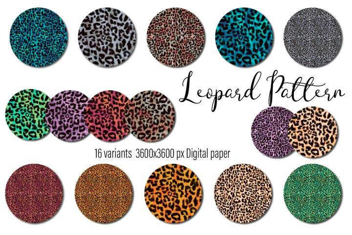 Leopard Seamless pattern Background