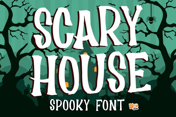 Scary House - Spooky Font