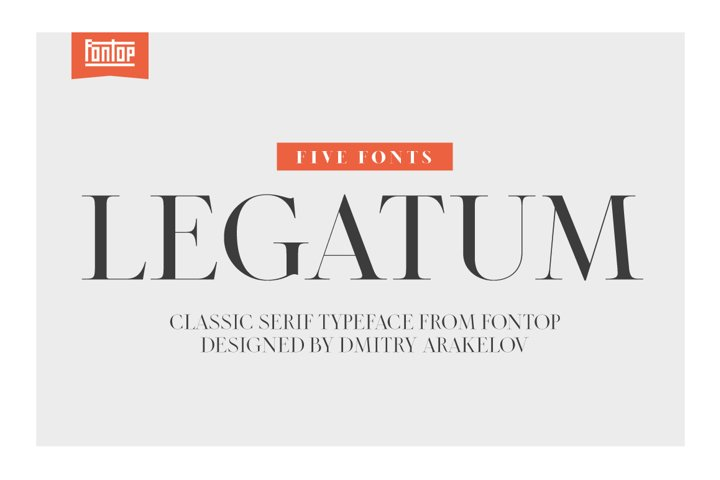 LEGATUM font family