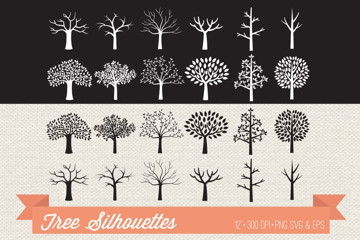 Tree silhouettes clipart
