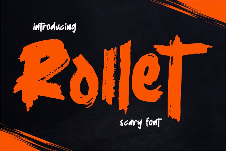 Rollet | Scary Font